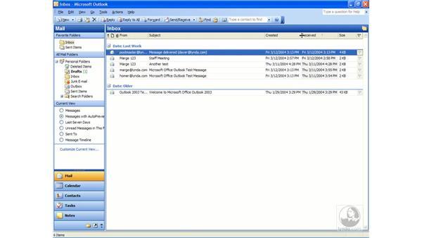 inbox views: Outlook 2003 Essential Training