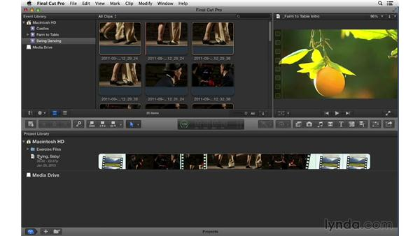Using the exercise files: Final Cut Pro X 10.0.9 Essential Training
