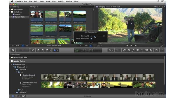 Taking a tour of the FCP X interface: Final Cut Pro X 10.0.9 Essential Training