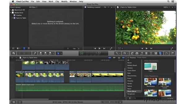 Accessing additional tools: Final Cut Pro X 10.0.9 Essential Training