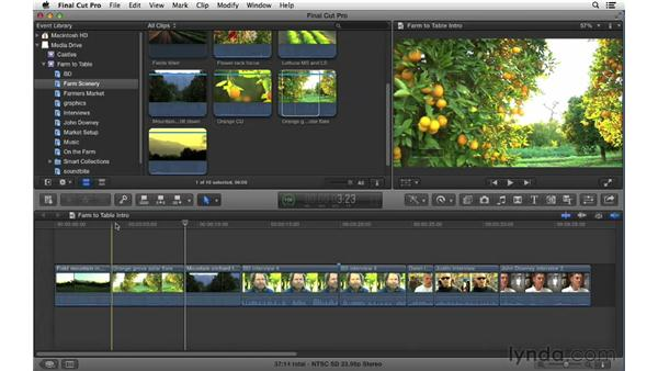 Changing shots: Using Overwrite and Replace edits: Final Cut Pro X 10.0.9 Essential Training