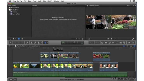 Understanding the features and limitations of Connected Clips: Final Cut Pro X 10.0.9 Essential Training