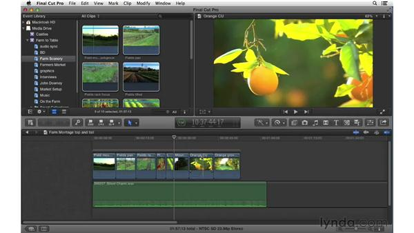Performing quick extractions using Top and Tail edits: Final Cut Pro X 10.0.9 Essential Training
