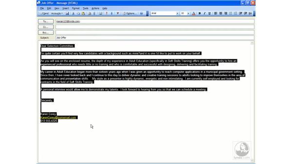 formatting: Outlook 2003 Essential Training
