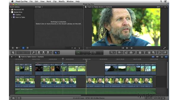 Working with markers: Final Cut Pro X 10.0.9 Essential Training
