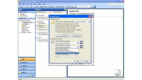 forwarding: Outlook 2003 Essential Training