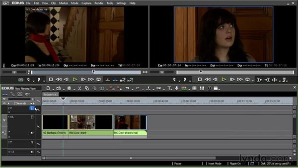 The new filmstrip view: EDIUS 6.5 New Features Workshop