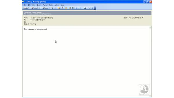 resending messages: Outlook 2003 Essential Training