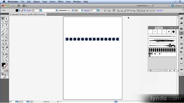 Segmented art brushes: Illustrator CS5 New Features Overview