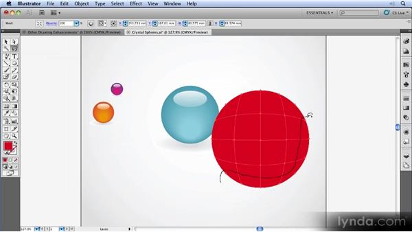Transparency in gradient meshes: Illustrator CS5 New Features Overview