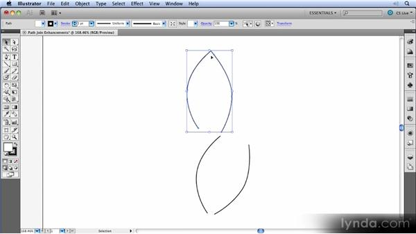 Path join enhancements: Illustrator CS5 New Features Overview