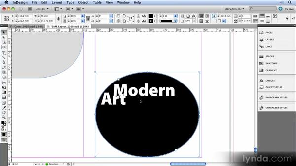 Vertical justification in nonrectangular shapes: InDesign CS5 New Features Overview