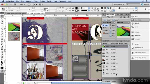 Adobe Bridge and Mini Bridge: InDesign CS5 New Features Overview