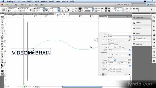 The Motion Path tool: InDesign CS5 New Features Overview