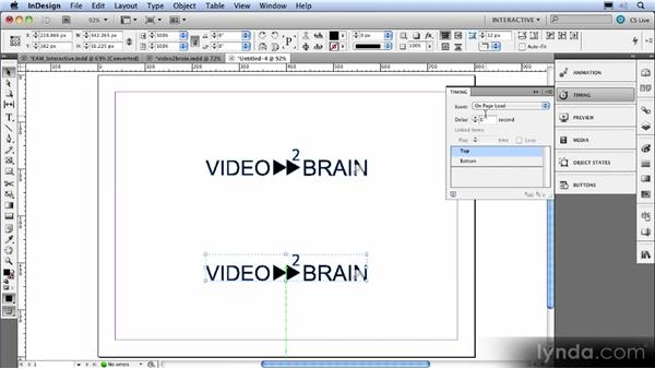 The Timing panel: InDesign CS5 New Features Overview