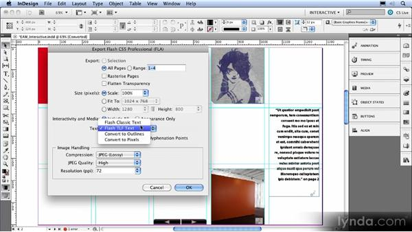Improved export to Flash Professional: InDesign CS5 New Features Overview
