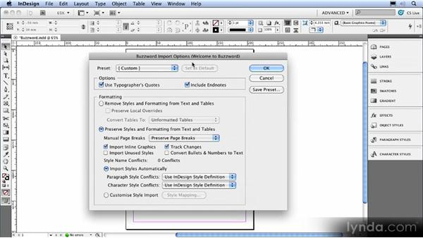 Buzzword integration: InDesign CS5 New Features Overview
