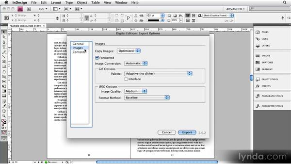 Exporting an EPUB file from InDesign CS4: Creating Ebooks with InDesign CS4 or CS5