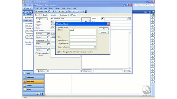 creating contacts: Outlook 2003 Essential Training