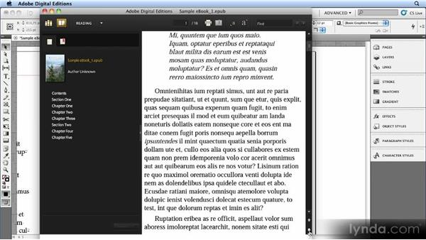 Master pages, page breaks, and page numbers: Creating Ebooks with InDesign CS4 or CS5