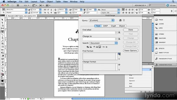 Working with nested styles and GREP styles: Creating Ebooks with InDesign CS4 or CS5