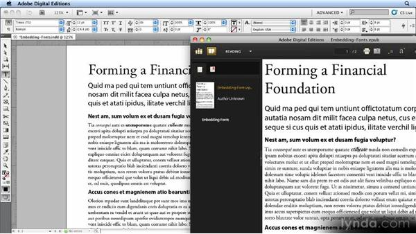 Embedding fonts: Creating Ebooks with InDesign CS4 or CS5