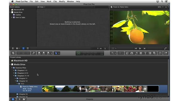 Managing render files: Final Cut Pro X 10.0.9 Essential Training