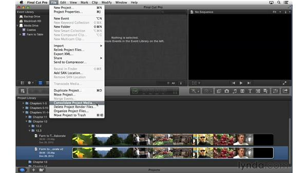 Collaborating and archiving: Final Cut Pro X 10.0.9 Essential Training