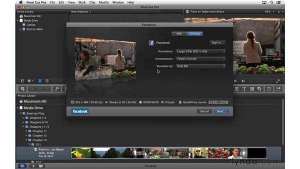 Sharing projects using presets: Final Cut Pro X 10.0.9 Essential Training