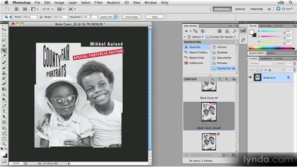 Preparing an ebook cover: Creating Photography Ebooks