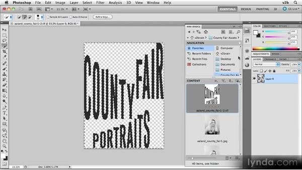 Preparing a PNG graphic for a title page: Creating Photography Ebooks