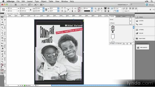 Placing the cover image: Creating Photography Ebooks
