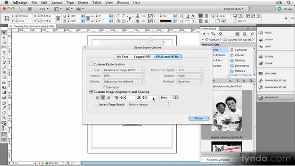 Importing and placing portfolio images into InDesign: Creating Photography Ebooks
