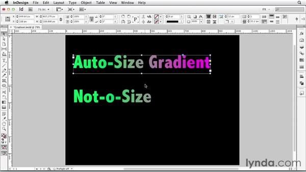 084 Applying a gradient to text: InDesign FX