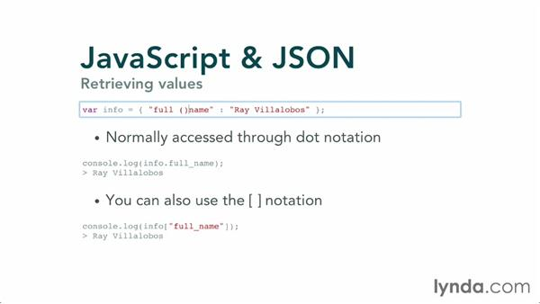 Creating simple data: JavaScript and JSON
