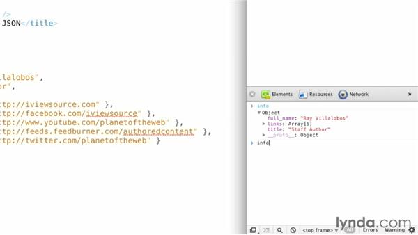 Debugging JavaScript objects with your browser: JavaScript and JSON