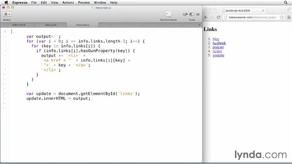 Using jQuery to parse JSON feeds: JavaScript and JSON