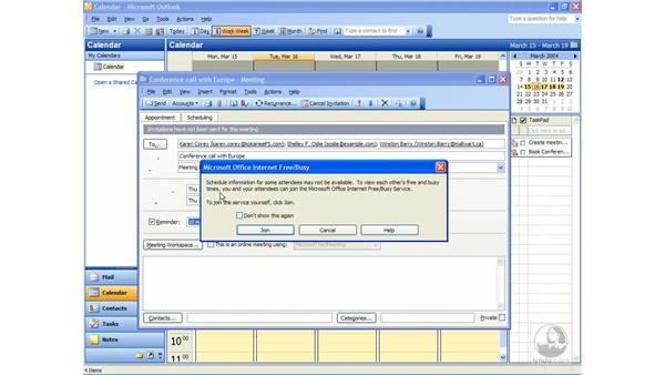creating meetings: Outlook 2003 Essential Training