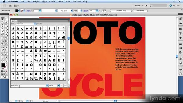 Using glyphs: 11 Things Every Beginner Needs to Learn to Love Illustrator