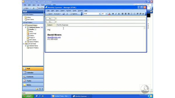 creating templates: Outlook 2003 Essential Training
