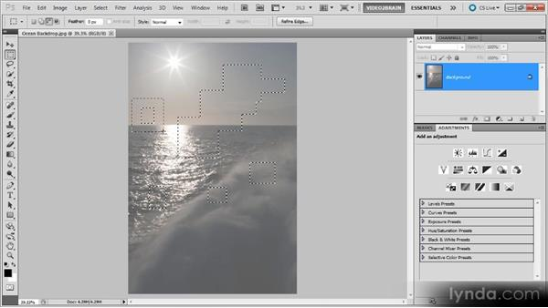 Adding, subtracting, and intersecting: Photoshop Selections Workshop