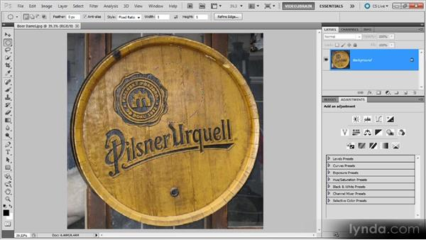 The Elliptical Marquee tool: Photoshop Selections Workshop