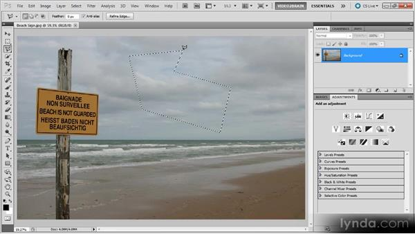 The Polygonal Lasso tool: Photoshop Selections Workshop