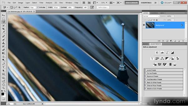 The Magnetic Lasso tool: Photoshop Selections Workshop