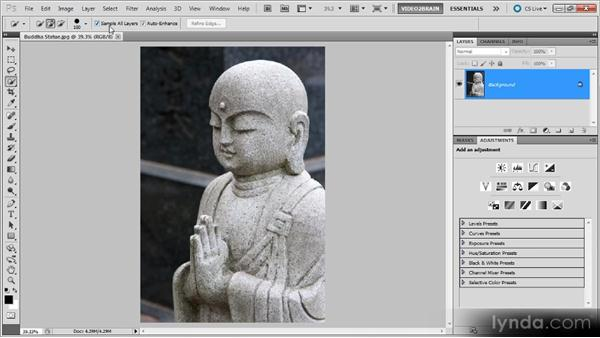 The Quick Selection tool: Photoshop Selections Workshop