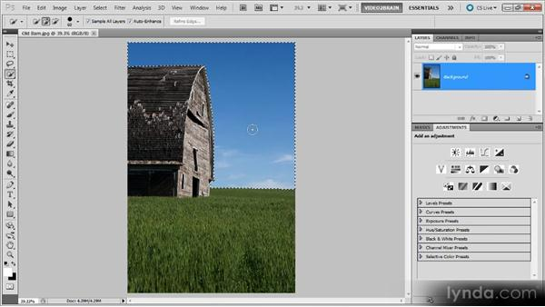 Inverting a selection: Photoshop Selections Workshop