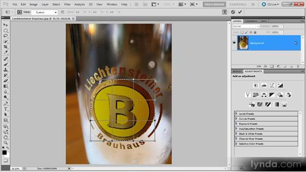 Transforming a selection: Photoshop Selections Workshop