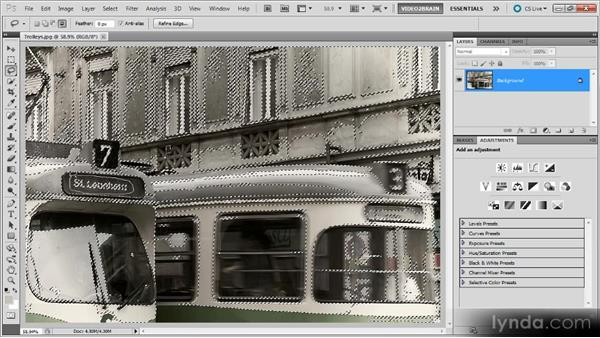 Dealing with a monochromatic image: Photoshop Selections Workshop