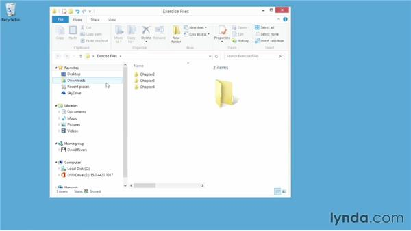 Using the exercise files: Up and Running with Visio 2013