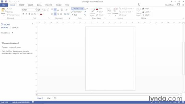 Touring the Visio 2013 interface: Up and Running with Visio 2013